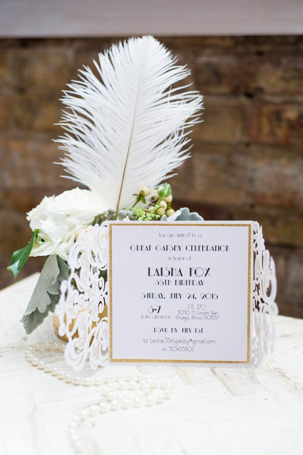 Glamorous Great Gatsby Birthday Party - Designed with Amore Custom ...