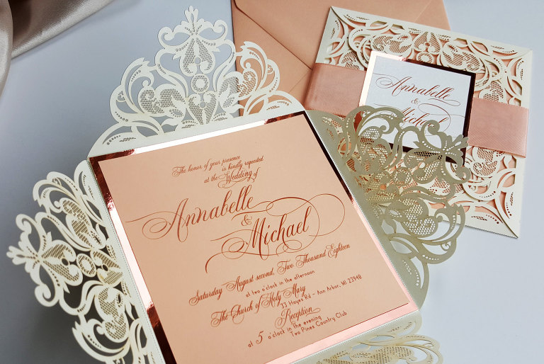 of designed with amore a stationery design studio based in fraser michigan specializing in customized handmade wedding invitations and paper goods - Wedding Invitations