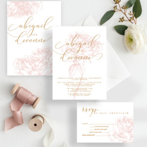 floral blossomed invitation design