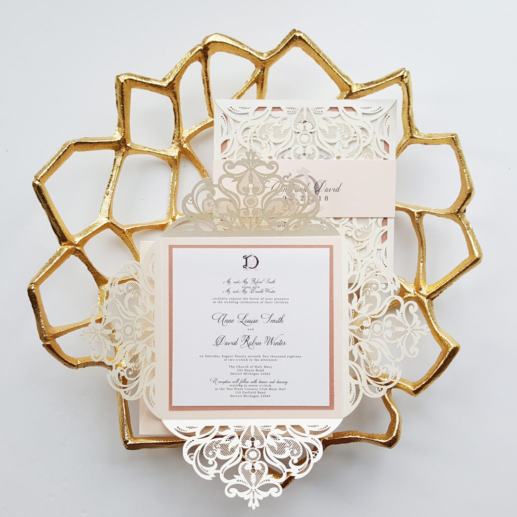Lasercut Invitations » Designed with Amore Custom invitations