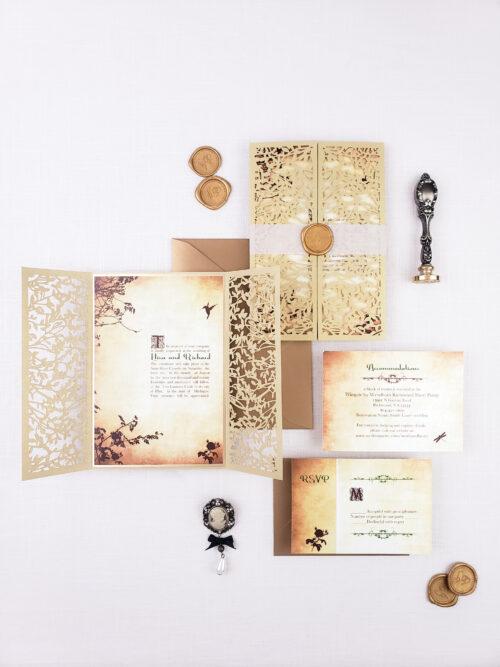 princess wedding invitations