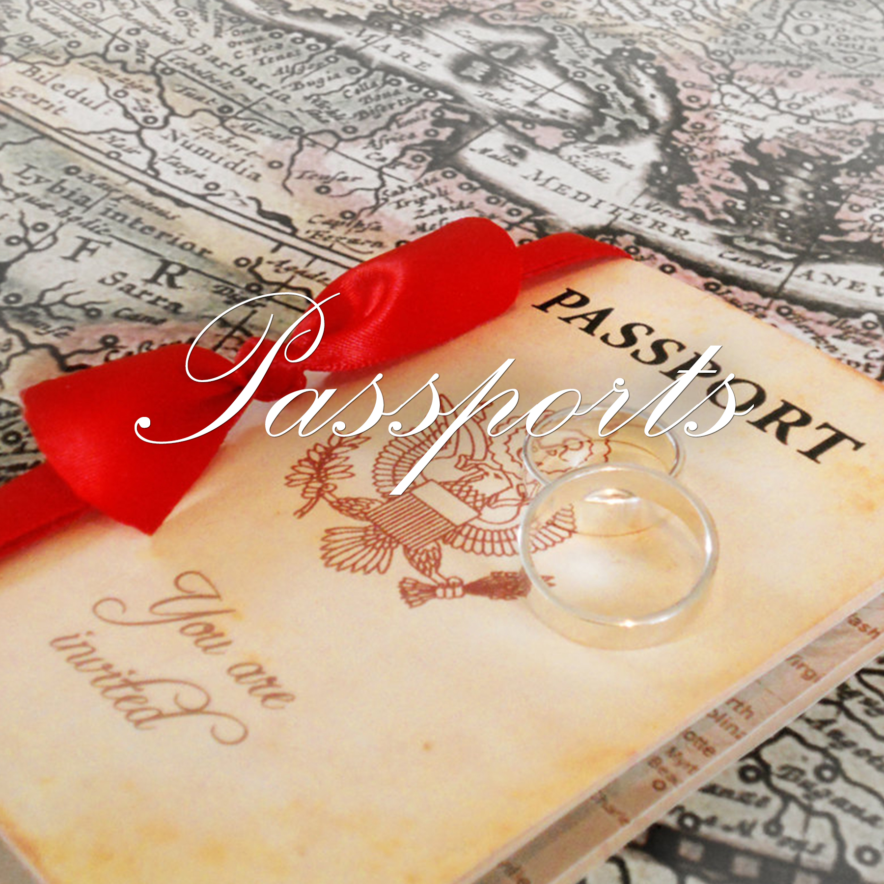 Passports and Booklets - Designed with Amore Custom invitations
