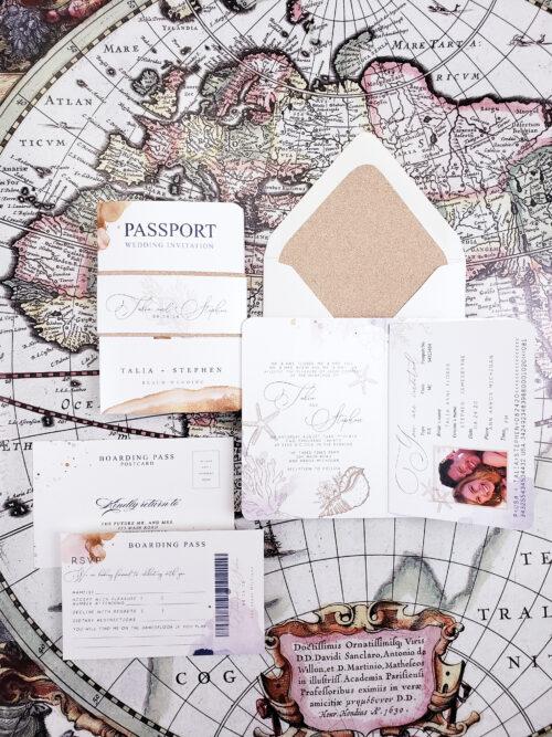 rustic wedding passport