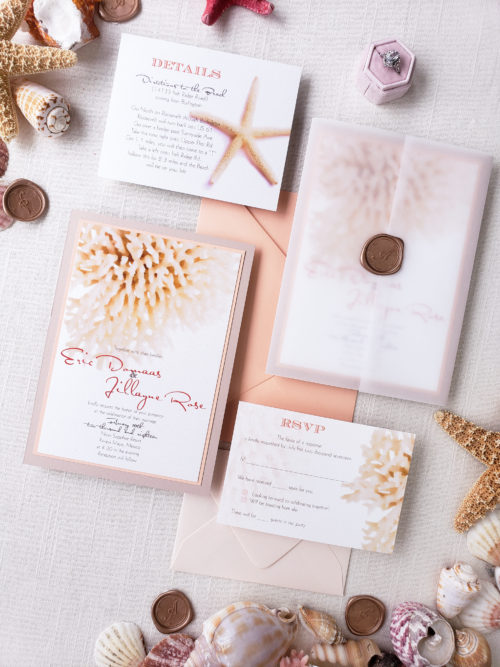 beach invitation cards