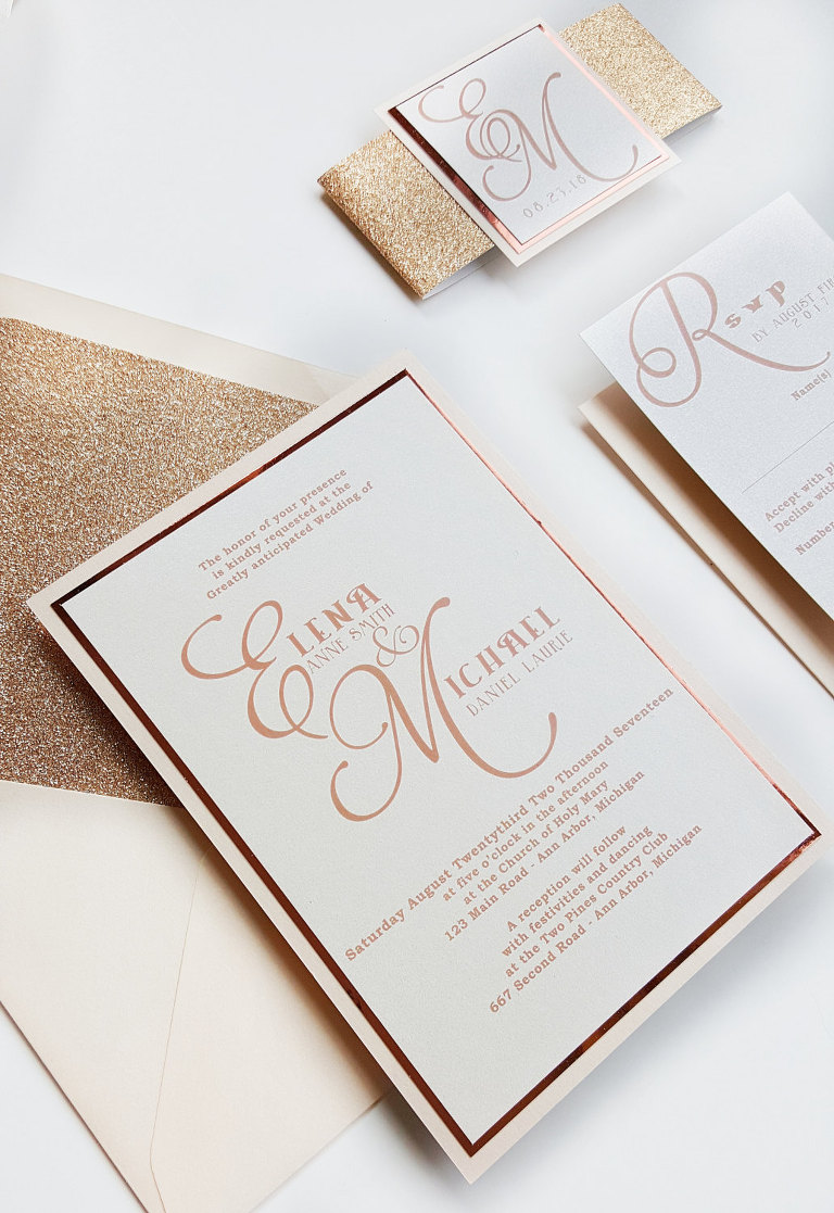 wedding invitations and stationery by designed with amore