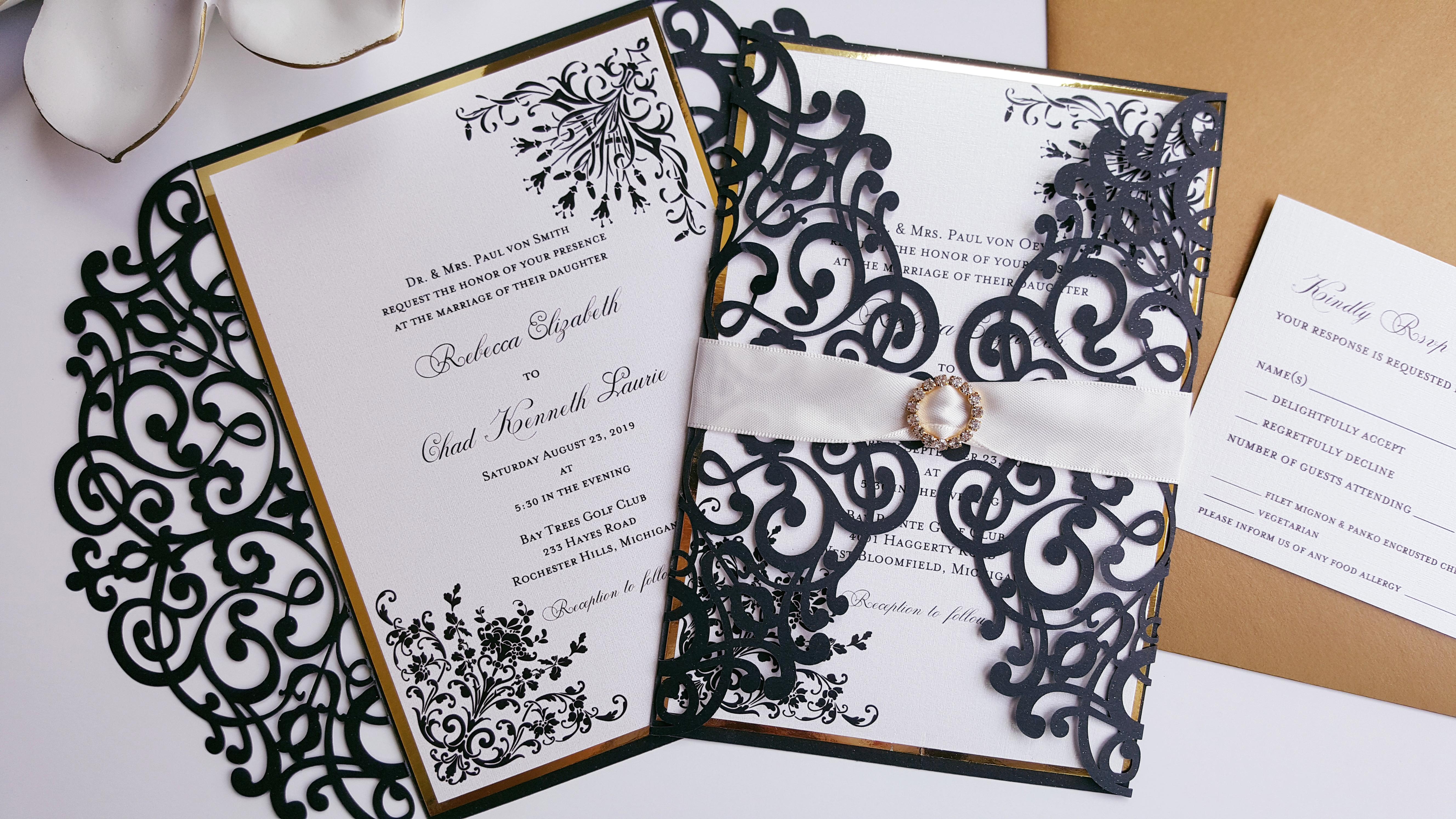 Simple Wedding Invitations Pinterest: Elegant Simple Wedding Invitations