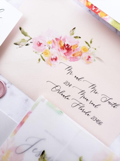 addressed wedding invitations