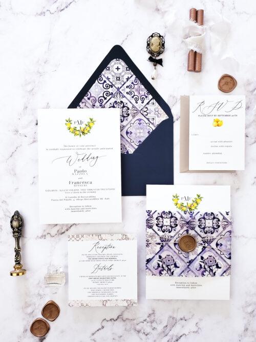 italian vellum wedding invitations