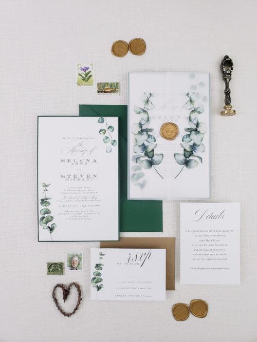 wax seal vellum invitations