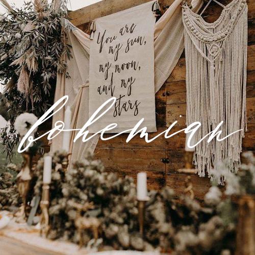 wedding invitations boho