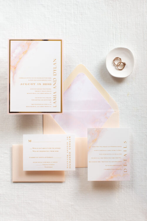 Marble wedding invites, blush marble effect wedding invitation suite, invitations for wedding