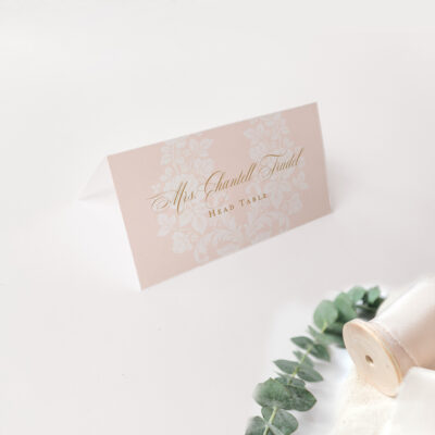 escort cards placecards pink