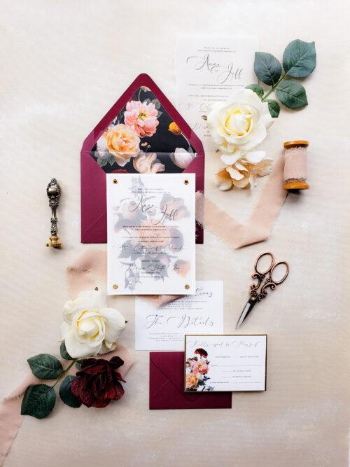 moody wedding invitations