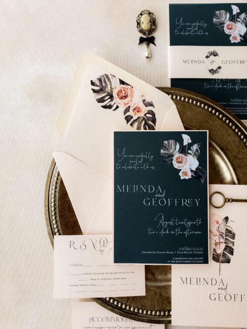 tropical wedding invites