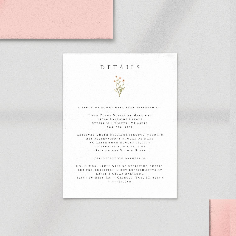 invitation card details closeup