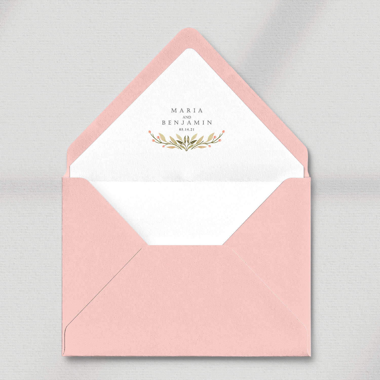envelope with white liner