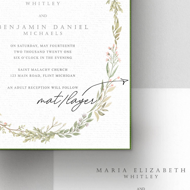 invitation card mat layer