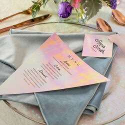 wedding menu invitations