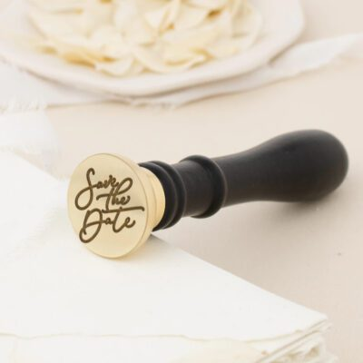 save the date wax stamp