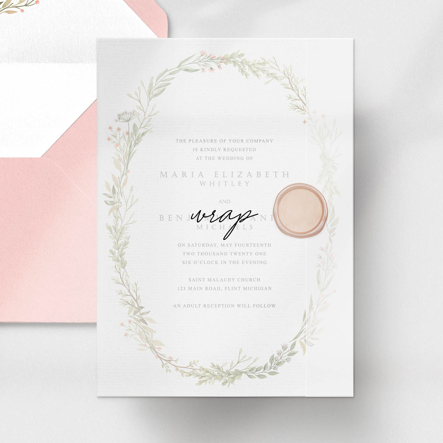 invitation card with wrap