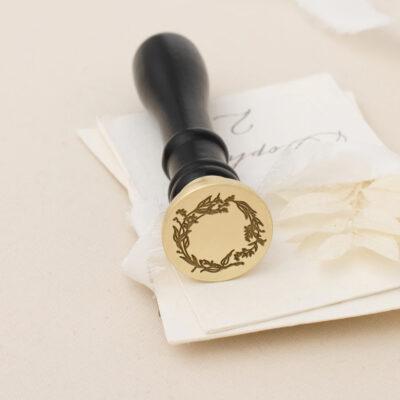 wreath wax stamp