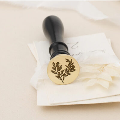 Wax seal small flowers and leaves